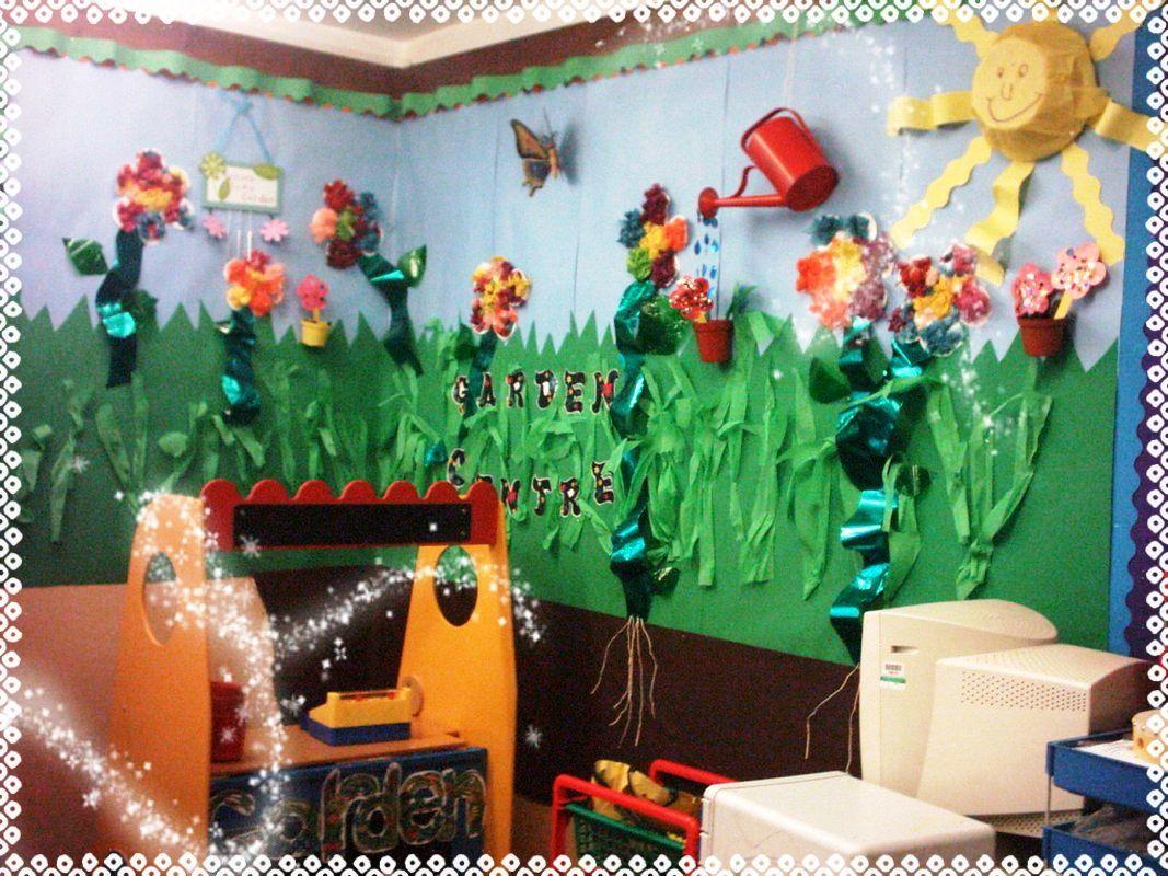 Soy Preescolar: #Ideas para #Decorados | Un hermoso jardín ¡si hace ...
