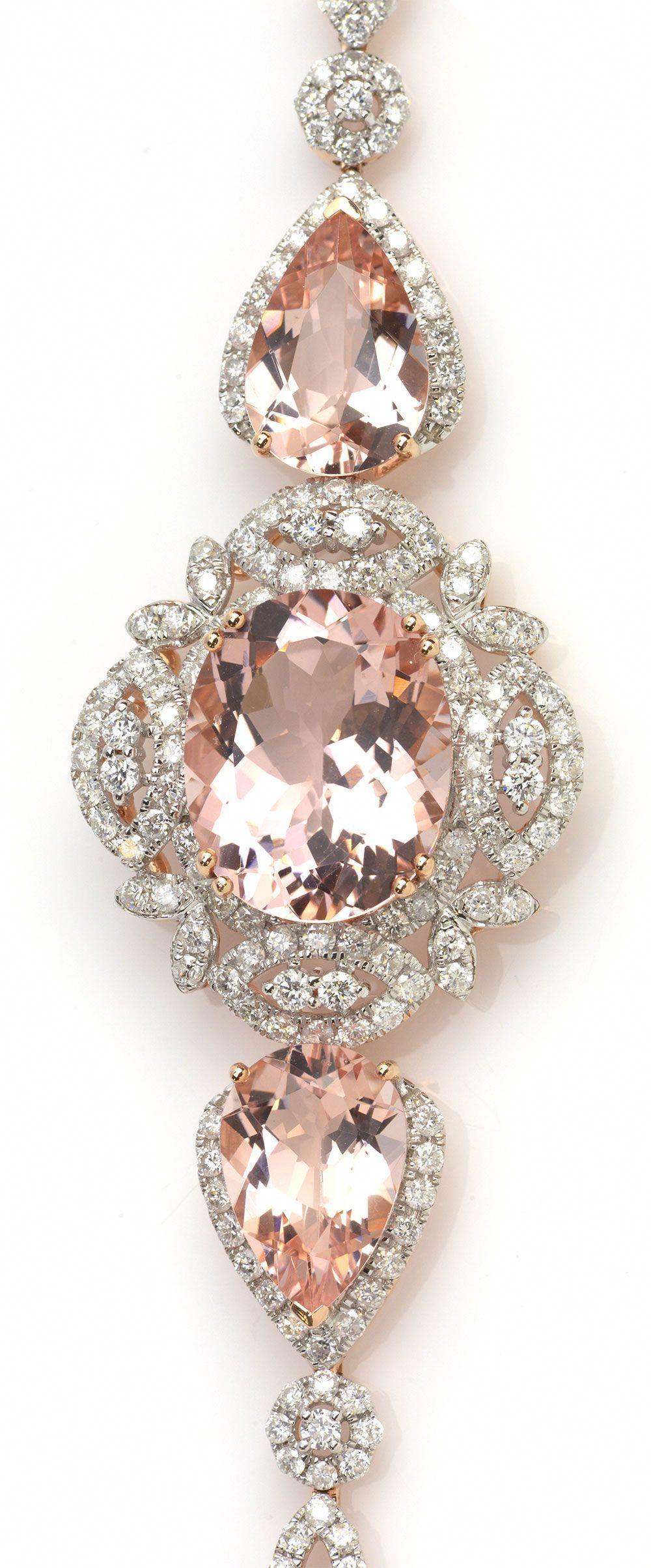 Pink & Rose Gold Diamond Bracelet. Item 416