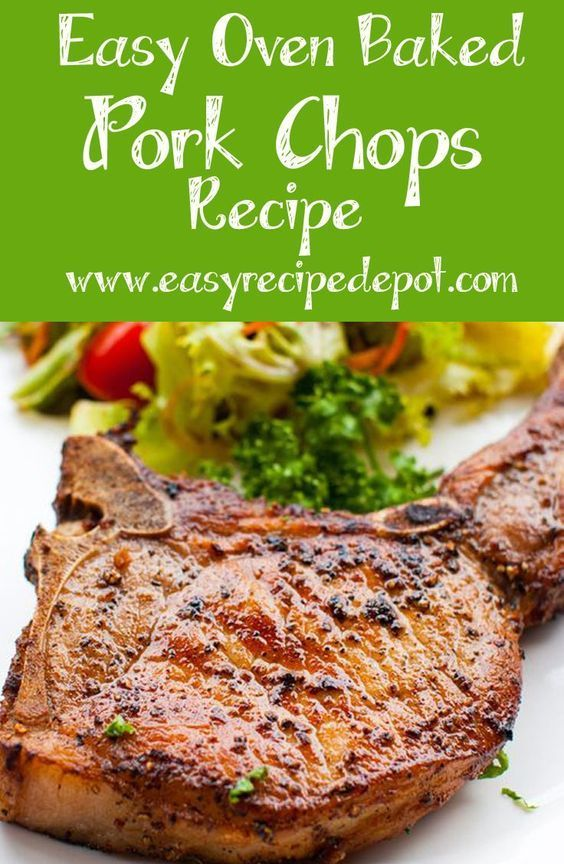 Easy Oven Baked Pork Chops (bone in) #ovenbakedporkchops