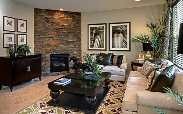 20 Appealing Corner Fireplace In The Living Room Home Design Lover Corner Fireplace Living Room Living Room With Fireplace Livingroom Layout