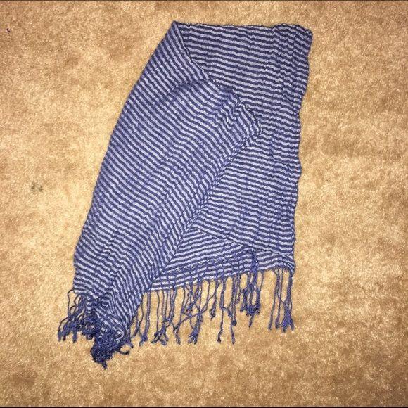 Navy scarf with thin white stripes Navy scarf with thin white stripes Accessories Scarves & Wraps