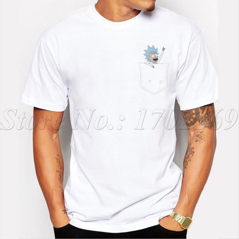 Printed T-Shirt,Shark Fins Inside The Ocean Fashion Personality Customization