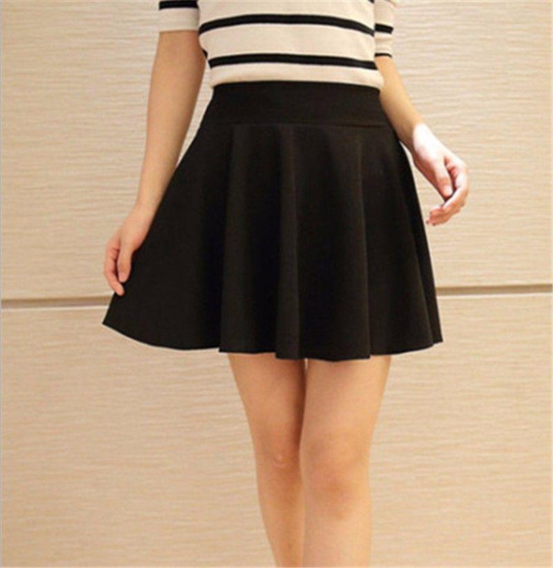 dbc83cd666 Verano falda corta para para 2015 vestido del todo Fit falda tutú blanco  negro ropa de