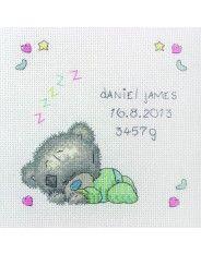 Anchor Tiny Tatty Teddy Sleeping Baby Cross Stitch Kit
