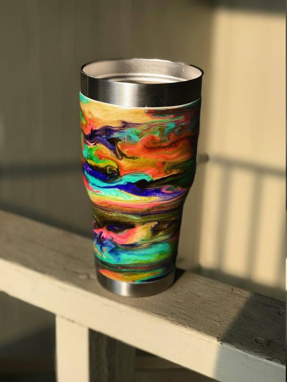 Ombre Alcohol Ink Tumbler, Ombre Tumbler, Alcohol ink, ombre
