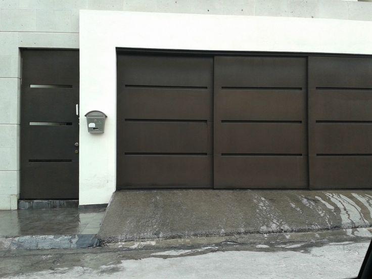 Porton herreria minimalista buscar con google hogar for Imagenes de garajes rusticos
