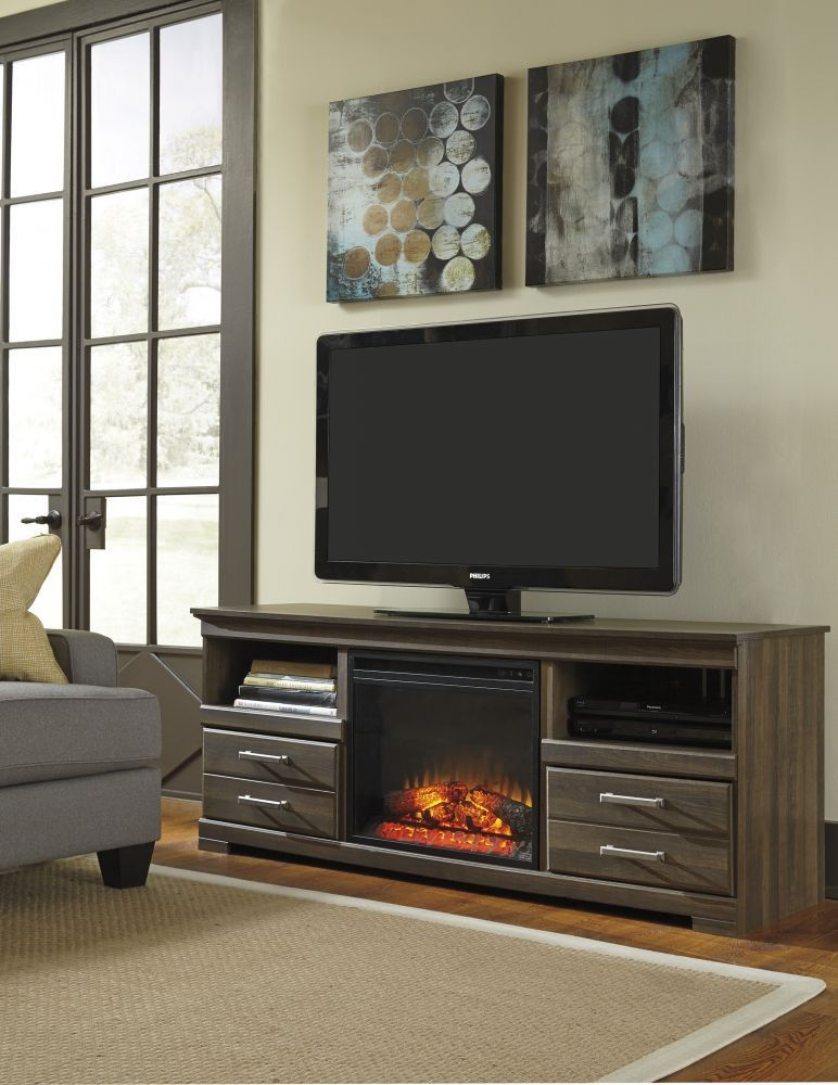 awesome home colonial living room furniture tv stand | Frantin TV Stand with Fireplace | Living Room | Large tv ...