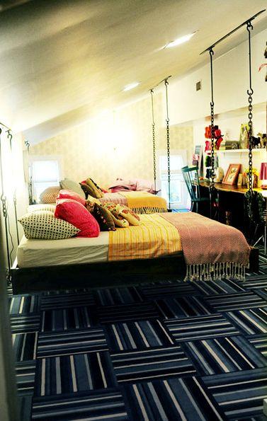 Girls\' Bedroom by Novogratz | Hanging beds, Twins and Bedrooms