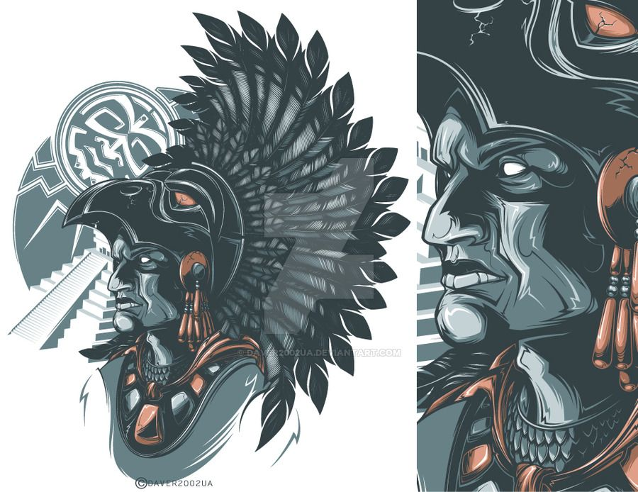 Aztec Warrior By On DeviantArt
