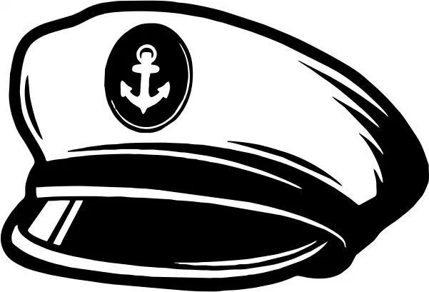 The Ship S Captain S Hat Amee House Thigh Tattoo Vector Free Hat Vector