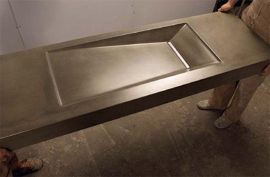 How To Mix And Mold Glass Fiber Reinforced Concrete Gfrc Concrete Decor Concrete Sink Molds Concrete Countertops