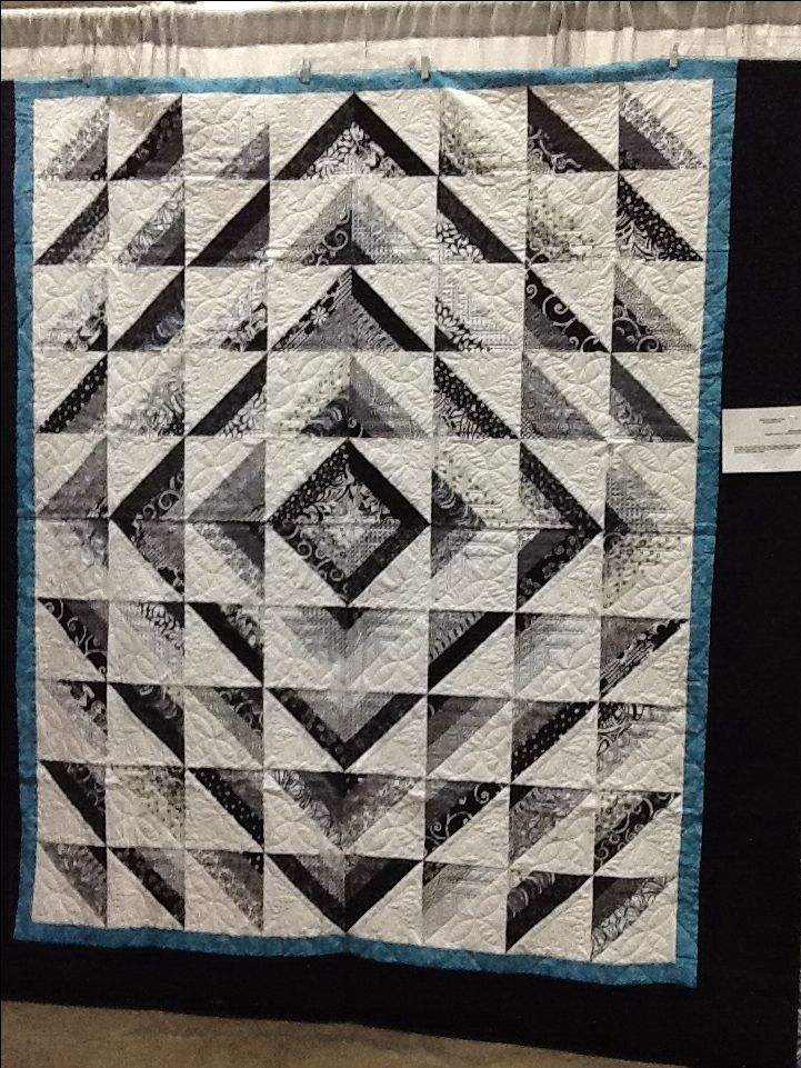 black and gray quilt patterns | Click to view large image | Half ... : blue white quilt patterns - Adamdwight.com