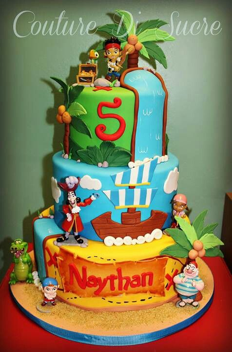 Jake and the neverland pirates cake kids birthday Pinterest