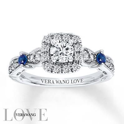 The Signature Sapphire On Each Piece Of The Vera Wang Love