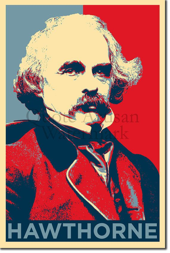 Nathaniel Hawthorne Original Art Print 12x8 Inch By Quoteartisan Photo Posters Original Art Hope Poster