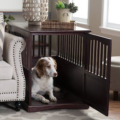 Dog Crates and Kennels End Table Large Pet Cage Indoor Wood Cat
