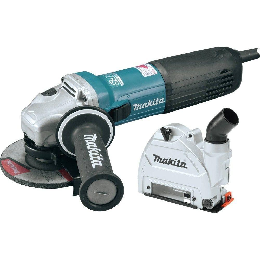 Makita 12 Amp Sjs Ii High Power Angle Grinder With 5 In Tuck Point Guard Ga5042cx1 The Home Depot Angle Grinder Makita General Steel