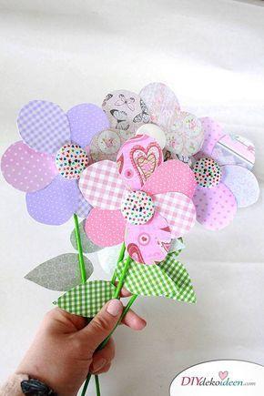 Photo of DIY Muttertagsgeschenk – machen Sie Blumen mit Papier