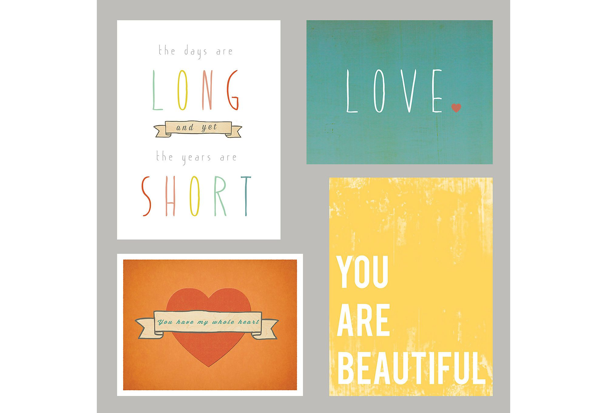 The Family Wall LOVE Collection 11x14 set | Posters & Prints ...