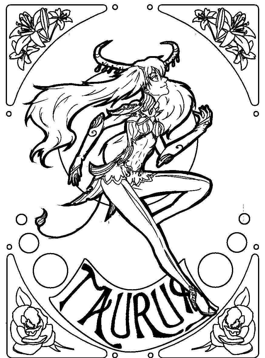 Zodiac Taurus Meg Lines By Mowwiie On Deviantart Taurus Zodiac Zodiac Signs Colors Zodiac