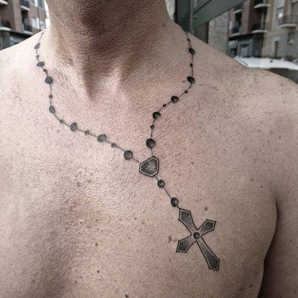 Rosary Tattoos | Ideas, Meaning & Rosary Beads Tattoo Designs - Tattoo Me Now #rosarybeadtattoo