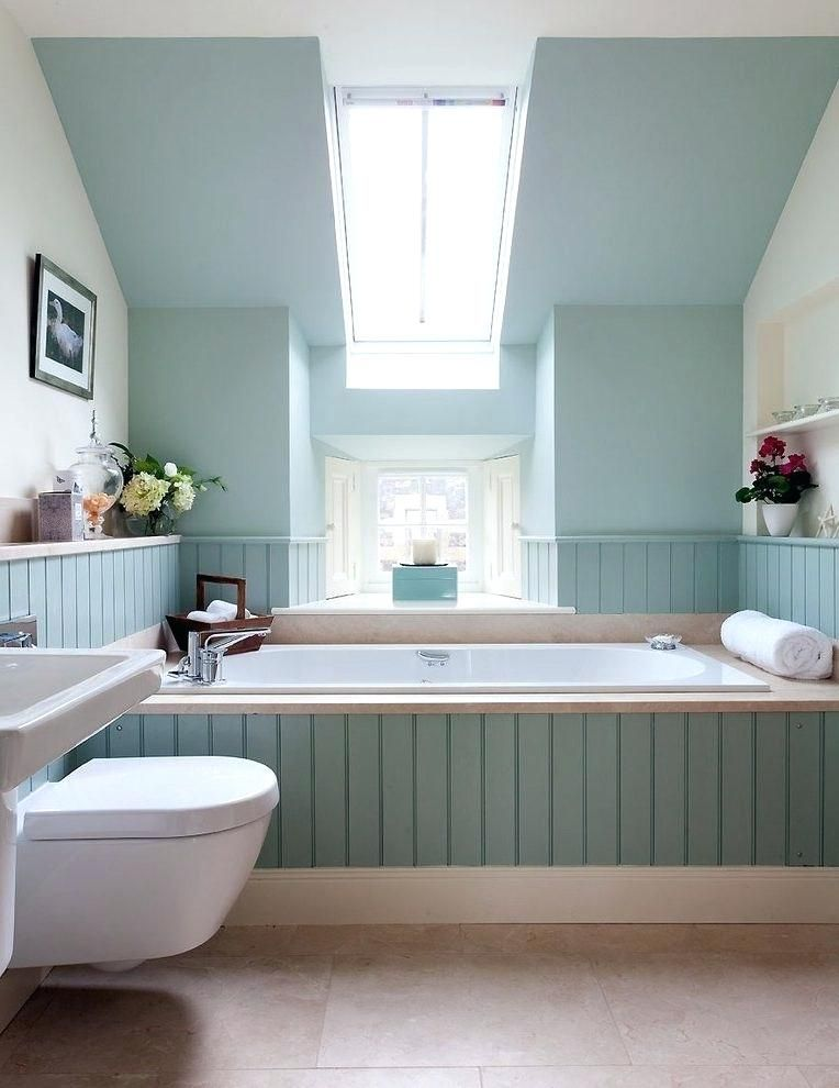 Bathroom Tongue And Groove Cladding Tongue And Groove Paneling Ideas Bathroom Transitional Wi Small Bathroom Colors Bathroom Color Schemes Small Bathroom Paint