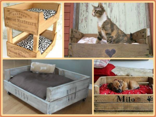 Hacer una cama reciclada para mascotas f cil cama para - Camas para perros de madera ...