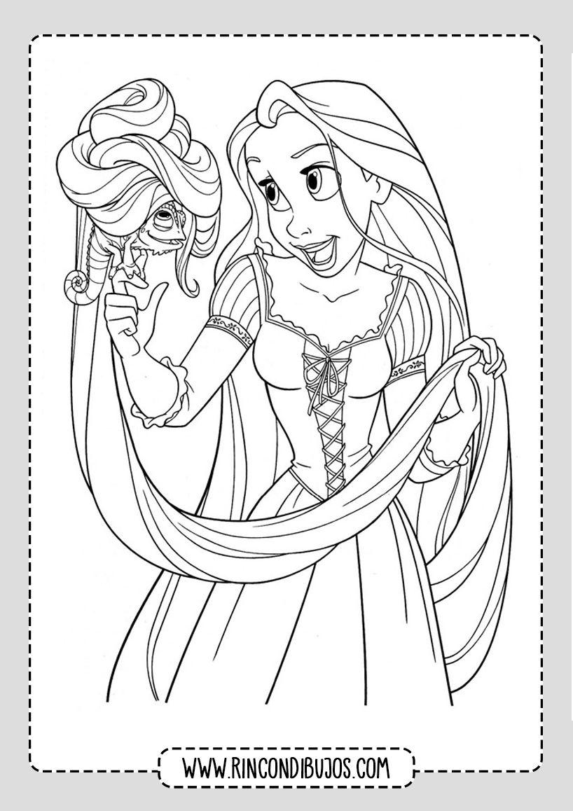 Dibujos De Princesas Disney Colorear Rincon Dibujos Rapunzel Dibujo Princesas Para Colorear Princesas Dibujos