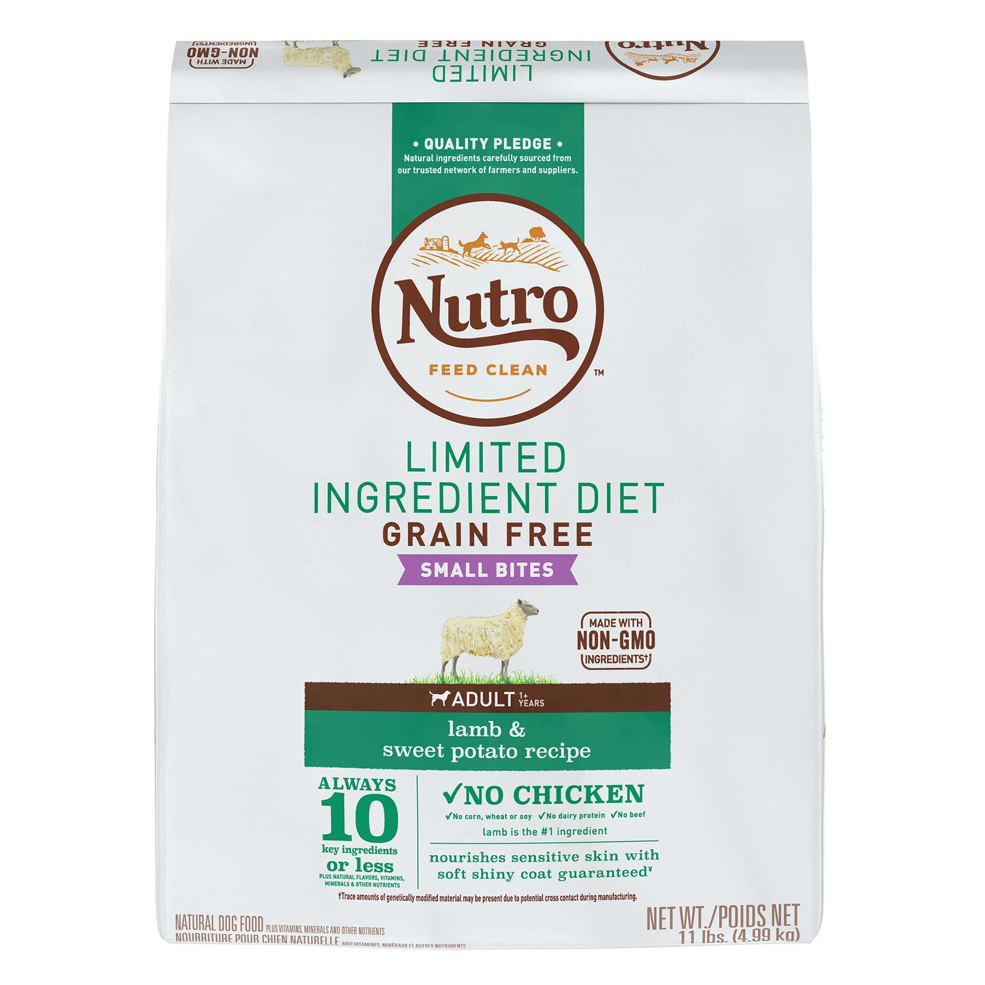 Nutro Limited Ingredient Diet Small Bites Dog Food Natural Lamb