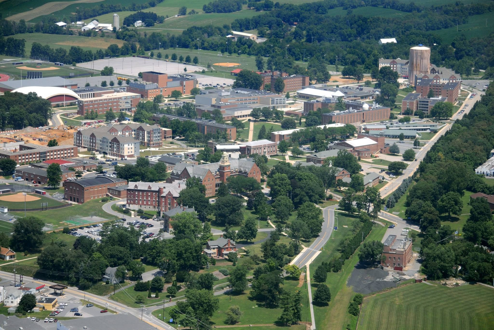 Kutztown Campus Aerial Map on
