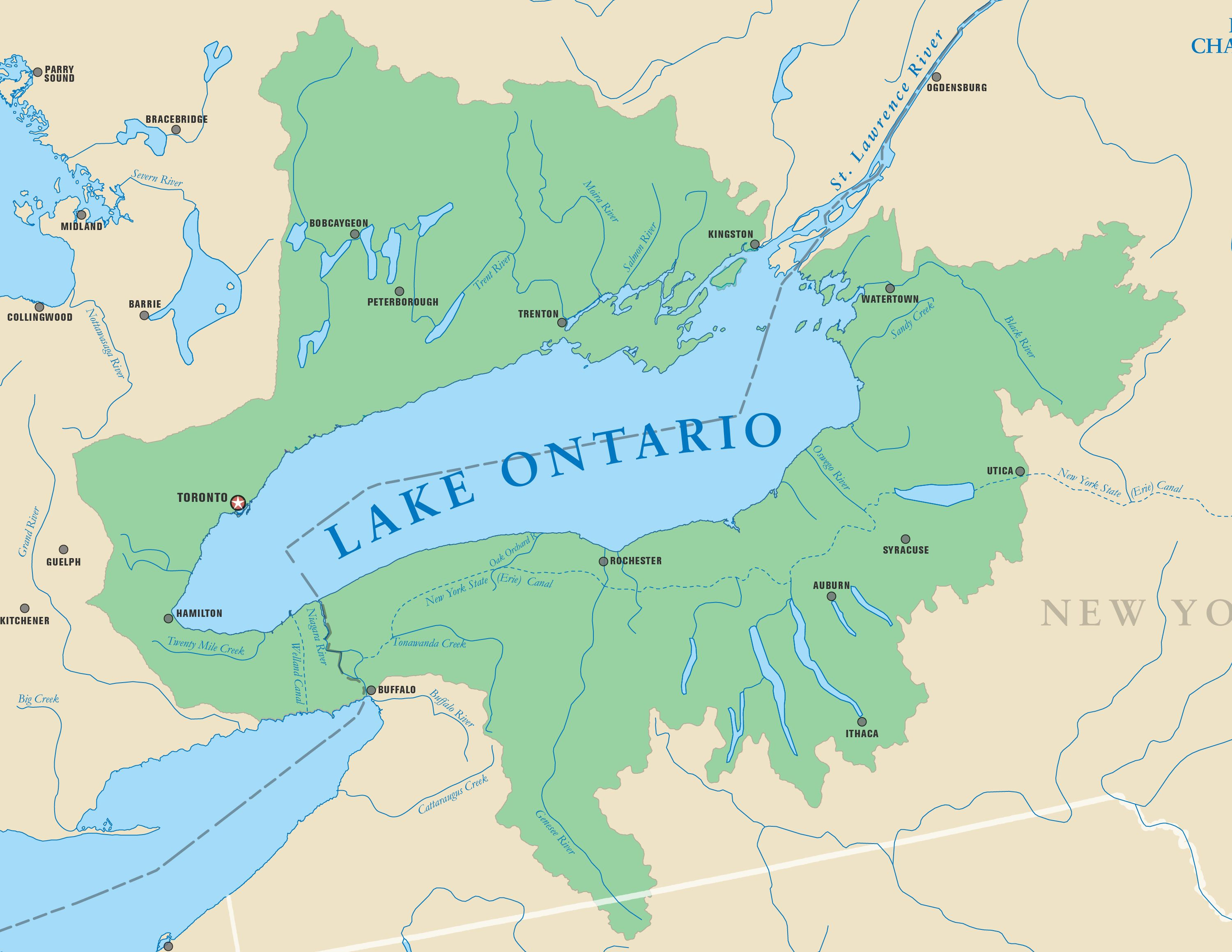 ontario map of lakes Image Result For Watersheds Of The Lake Ontario Lake Ontario ontario map of lakes