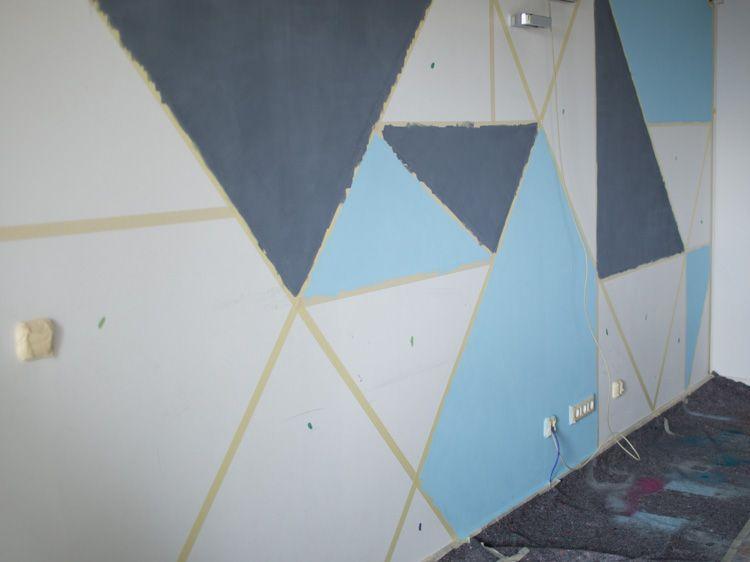 Tutoriel Diy Peindre Un Mur Avec Des Formes Gomtriques Colores