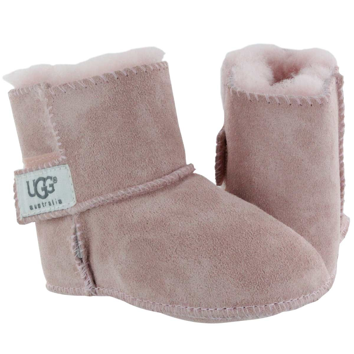 UGG Australia Infants' ERIN baby pink sheepskin slippers