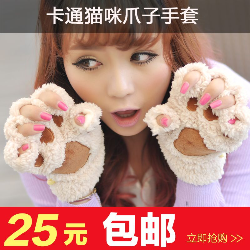 Gloves female cartoon cat paw gloves women's lovers winter gloves gift-inGloves & Mittens from Apparel & Accessories on Aliexpress.com | Alibaba Group