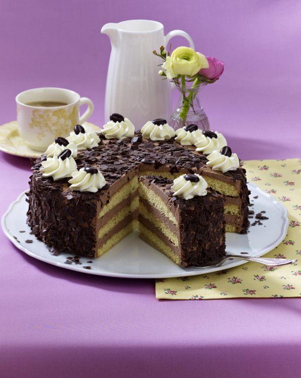 Feine Mokka Buttercreme Torte Rezept Backen Torten Kuchen