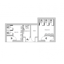 Public toilet layout in 2019 | Toilet, Layout, Furniture layout