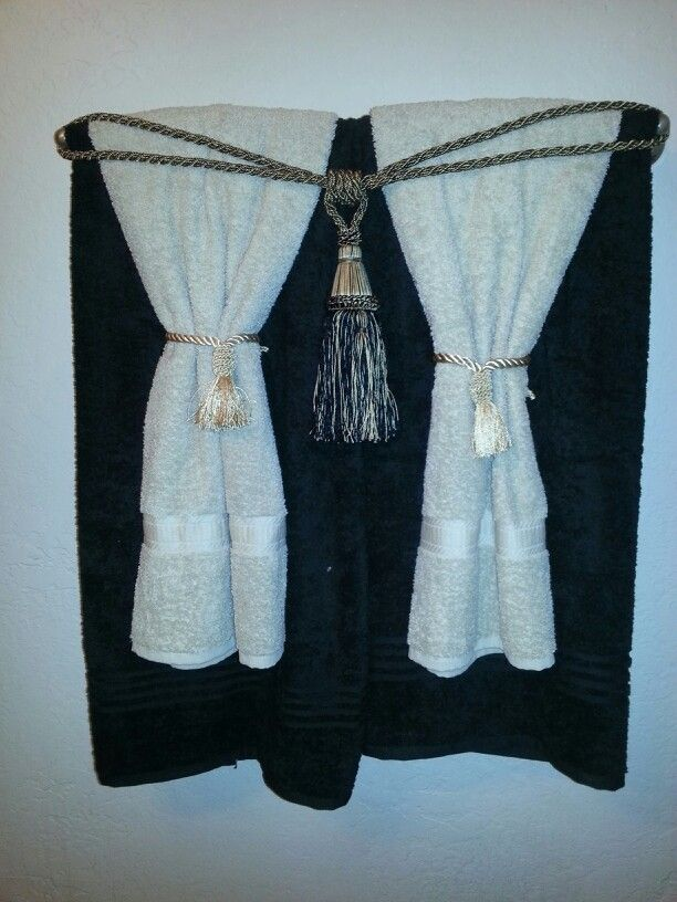 Curtain Tassels Make Great Towel Ties In Your Bathroom Decor With