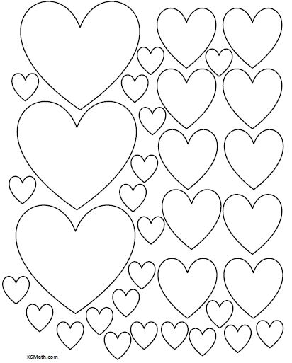 Best Photos Of Different Size Heart Templates Printable ...