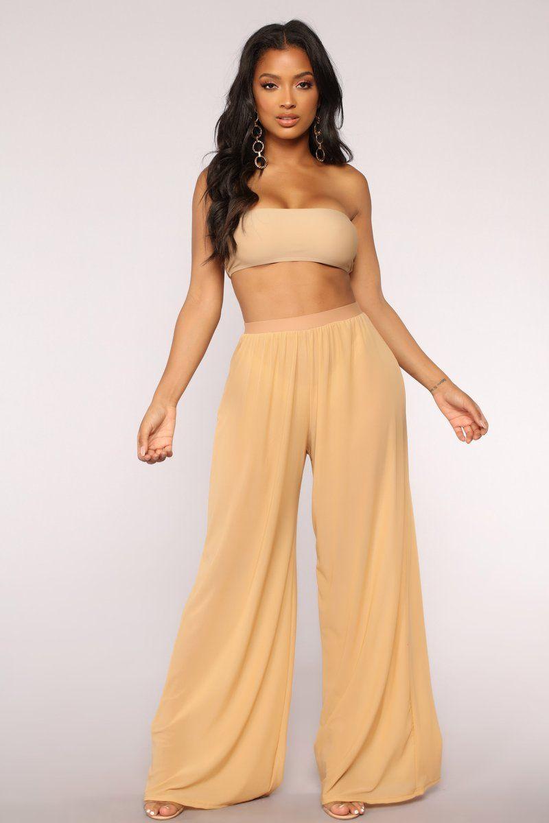 fe1ca609a0 Dare To Cover Coverup Pant - Beige Fashion Nova Pants