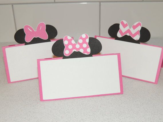 Set of 6 hot pink and black Minnie Mouse food by ArtofEntertaining