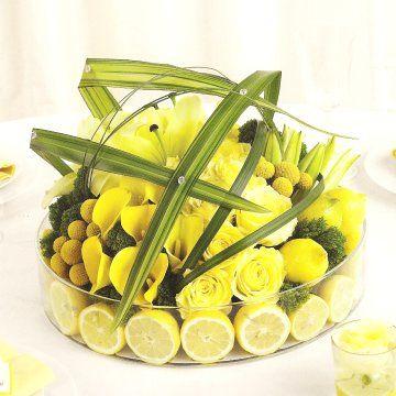 Wedding Reception Table Decorations | Centerpieces, Lemon ...