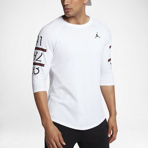 d4467b9f06a924 Nike Men s sz XL Men s Jordan 6 Times Raglan 3 4-Sleeve Shirt 862423 100  White  Jordan  ShirtsTops