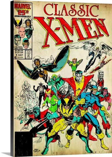 Classic X Men Photo Canvas Print Great Big Canvas Comic Covers Comics Comic Book Heroes