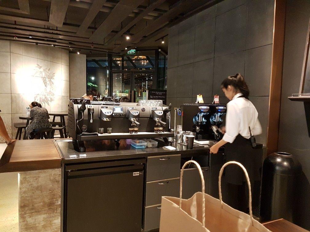 Black Eagle Espresso Machine in Starbucks Reserve, Plaza