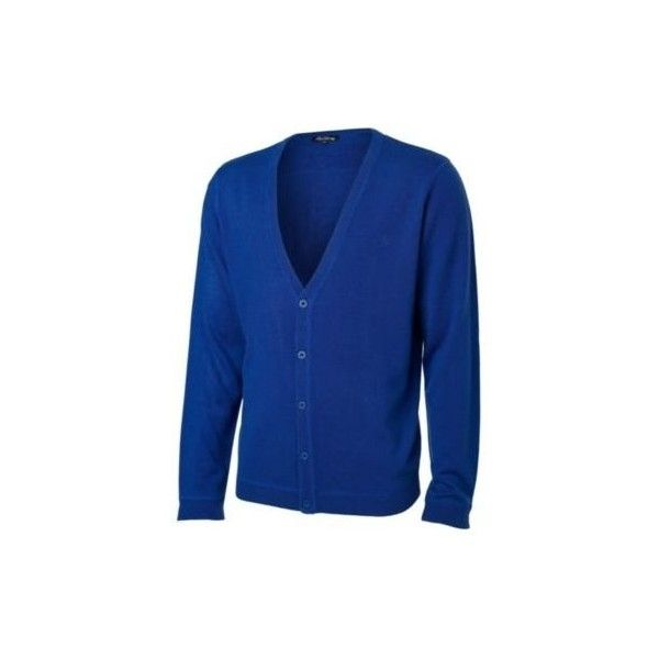 mens cardigans Red Herring- Royal blue acrylic cardigan- L ...