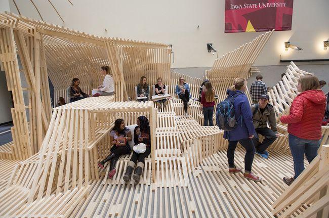 Architecture students 39 dunescape inspired design build - Iowa state university interior design ...