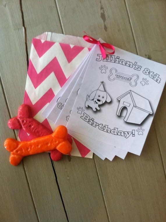 Personalized Puppy Birthday Party Coloring Book Party Favor PDF File (With  Images) Puppy Birthday Parties, Puppy Party, Puppy Birthday