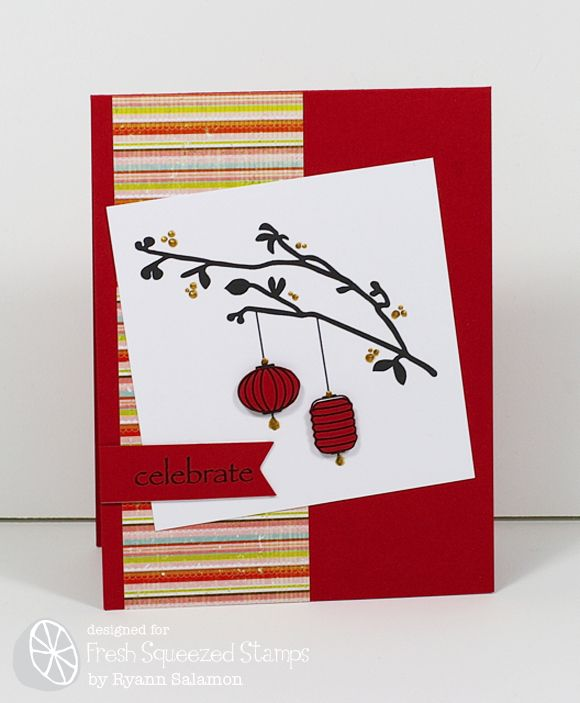 Fresh Squeezed Stamps Chinese New Year Blog Hop Asian Cards Paper Crafts Cards Chinese New Year Card