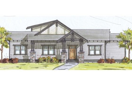 Craftsman Style House Plan 3 Beds 2 5 Baths 2070 Sq Ft Plan 895 9 Craftsman Style House Plans House Plans Dream House Plans