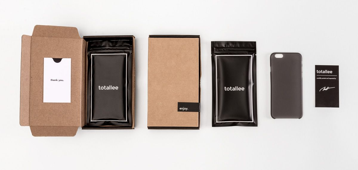 new styles 9335f 5e68c totallee's scarf iphone case packaging, including a kraft box, black ...